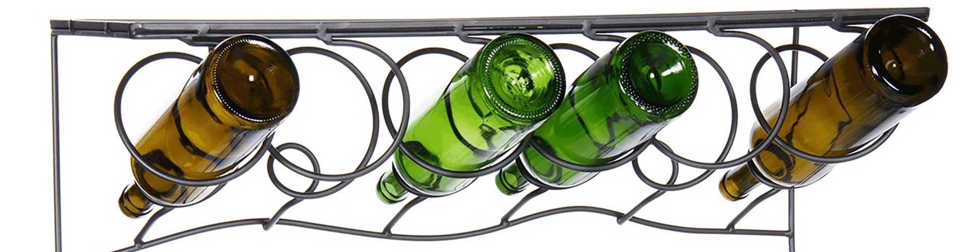 Hanging Metal Wine Bottle Holders