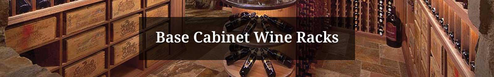 Base Cabinet Wine Racks