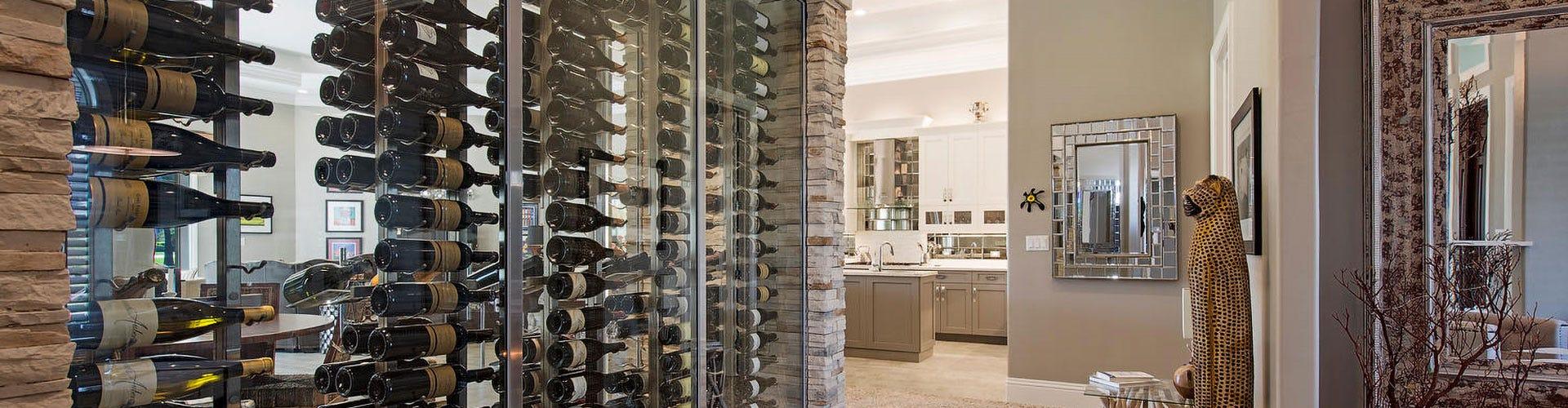 W Series Floating Wine Racks
