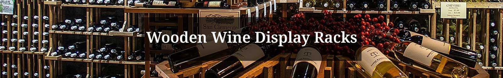 Wooden Wine Display Racks