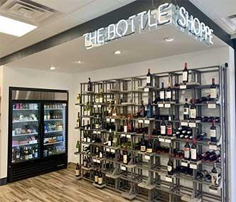 Creative retail wine display
