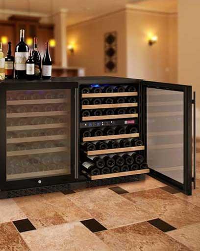 Flexcount 3 Zone Side by Side Wine Fridge