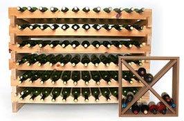Stackable wood wine racks