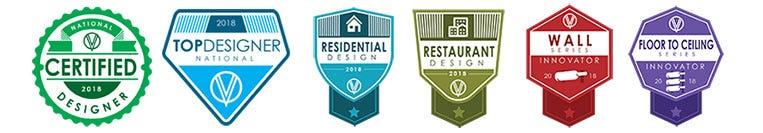 VintageView Designer Badges