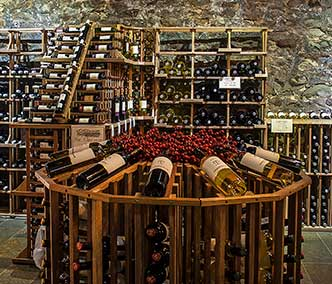 Wine display in a winery