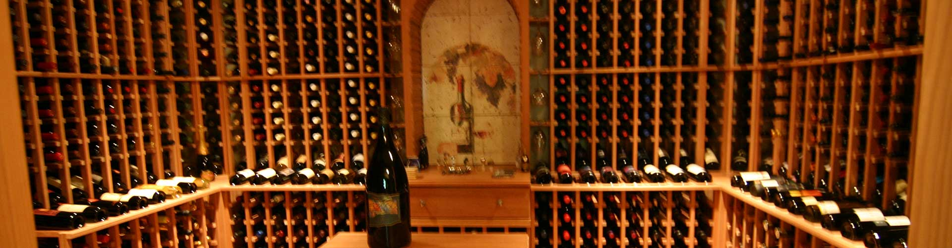 Traditional wood wine cellar gallery